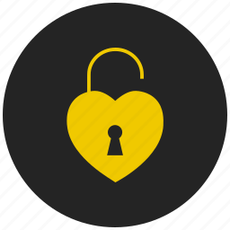 encrypted, lock, love lock, privacy, protect, safeguard, security lock icon