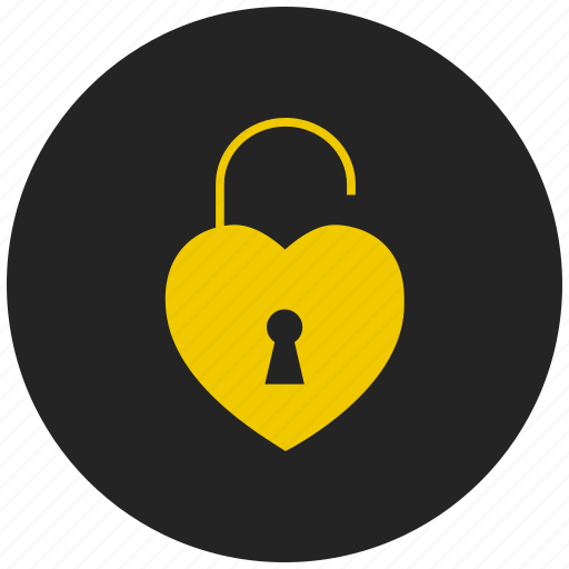 Encrypted, lock, love lock, privacy, protect, safeguard, security lock icon - Download on Iconfinder