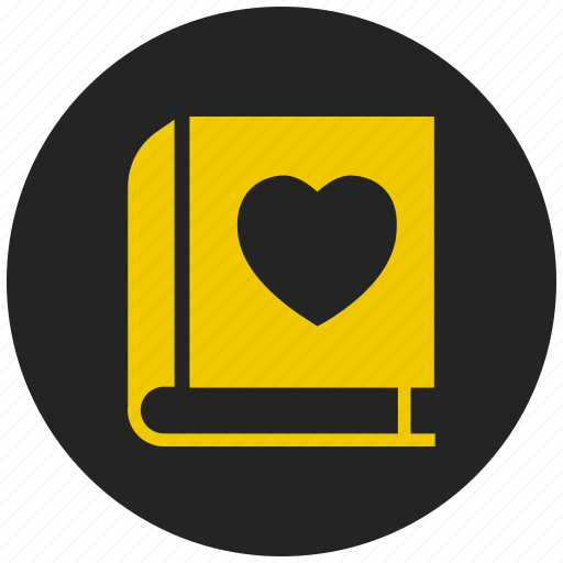 book, favorite book, love story, phone book, romantic stories, study icon
