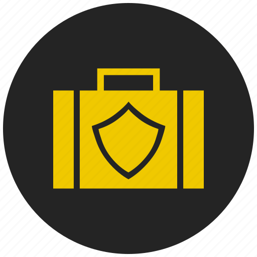 anti virus, briefcase, locker, safety, secure, security, sheild icon