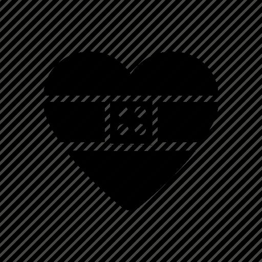 bandaged, day, heal, heart, valentine icon