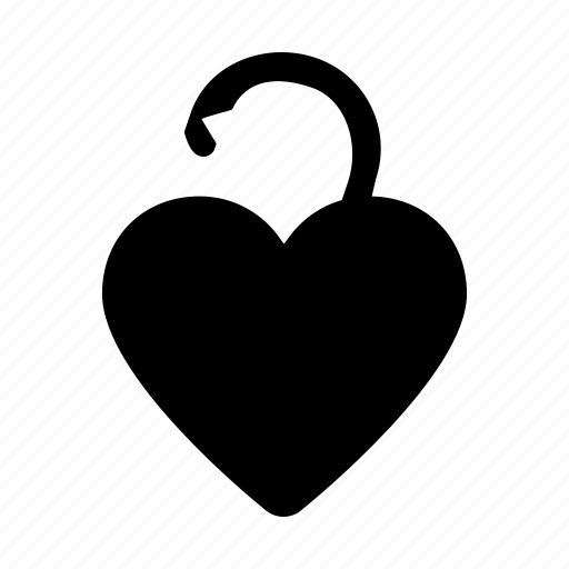 day, heart, love, unlock, valentine icon
