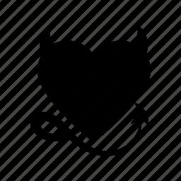 day, devil, heart, love, naughty, valentine icon