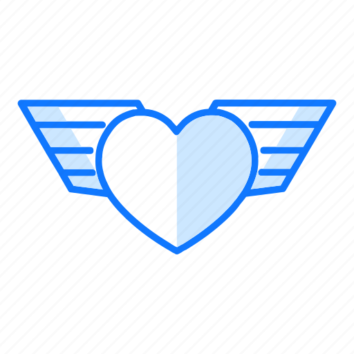 angel, fly, kindly, love, safe, valentines day, wings icon