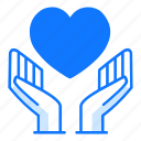 mercy, love, valentines day, hand, loving, care, charity icon