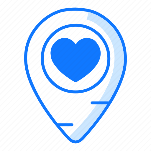 Location, love, marker, pin, place, point, valentines day icon - Download on Iconfinder