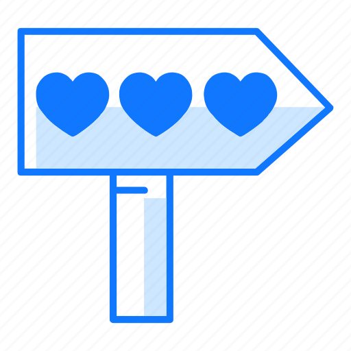 Direction, goal, instruction, love, purpose, street sign, valentines day icon - Download on Iconfinder