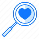 love, magnifying, research, review, search, valentines day, view
