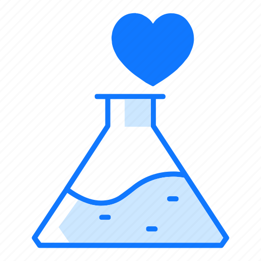 chemical, chemist, chemistry, flask, love, potion, valentines day icon