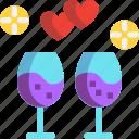 day, dinner, drink, valentines, wine