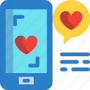 day, love, message, mobilephone, valentines icon