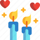 candle, day, night, romantic, valentines icon