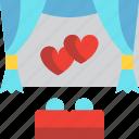cinema, date, day, love, movie, valentines icon