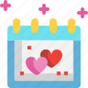 calendar, date, day, icons, love, valentines icon