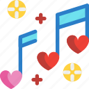 day, love, music, song, valentines icon