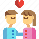 couple, day, kiss, love, valentines icon