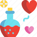 day, heart, love, potion, valentines icon