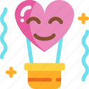 balloon, day, heart, love, valentines icon
