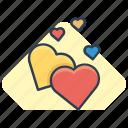 heart, hearts, novel, romance icon icon