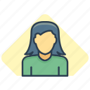 female, girl, girlfriend, lover, sweetheart icon icon