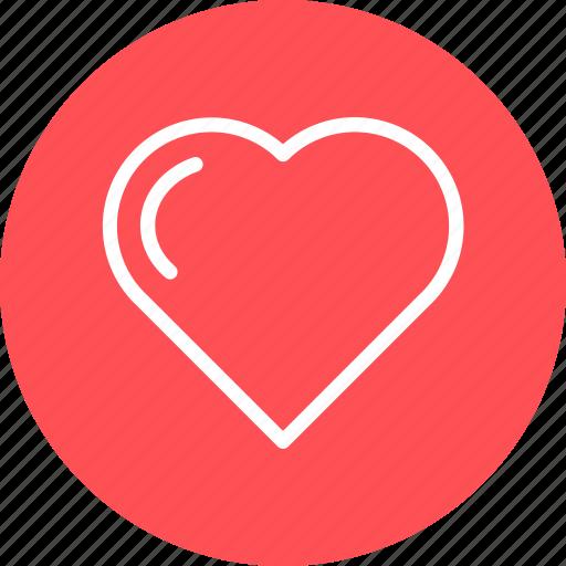 day, heart, line, love, red, valentine icon