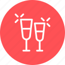 drink, glass, love, water icon