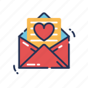envelope, heart, letter, love, mail, message, romantic icon