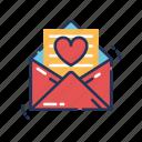 letter, love, heart, valentine