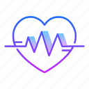 beats, cardiogram, frequency, heart rate, love, pulse, valentines day icon
