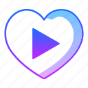 love, movie, music, next, play, valentines day, video icon