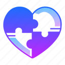 game, jigsaw, love, mystery, puzzle, trick, valentines day icon