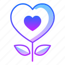flower, grow, life, love, nature, plant, valentines day icon