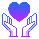 care, charity, hand, love, loving, safe, valentines day icon
