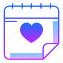 calendar, day, event, love, plan, story, valentines day icon