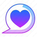 affection, chat, comment, love, message, speech, valentines day icon