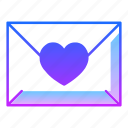 affection, envelope, letter, love, mail, send, valentines day icon