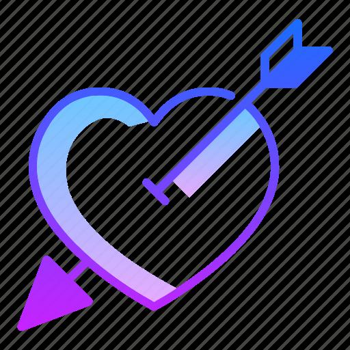 Arrow Choice Cupid Love Purpose Shoot Valentines Day Icon