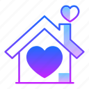 future, home, house, household, love, residence, valentines day icon