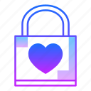 care, lock, love, padlock, safe, secure, valentines day icon