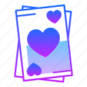 ace, card, game, hearts, love, trick, valentines day icon