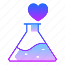 chemical, chemistry, flask, love, magic, potion, valentines day icon