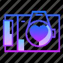 camera, documentation, love, photo, photography, valentines day, wedding icon