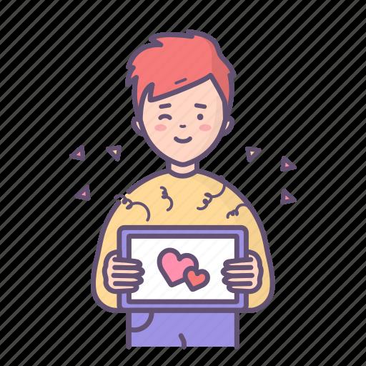 Boy, love, man, message, valentine, valentines day icon - Download on Iconfinder