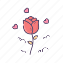 flower, love, rose, valentine, valentines day icon