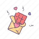 chocolate, love, sweets, valentine, valentines day icon