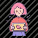 girl, love, message, valentine, valentines day, woman