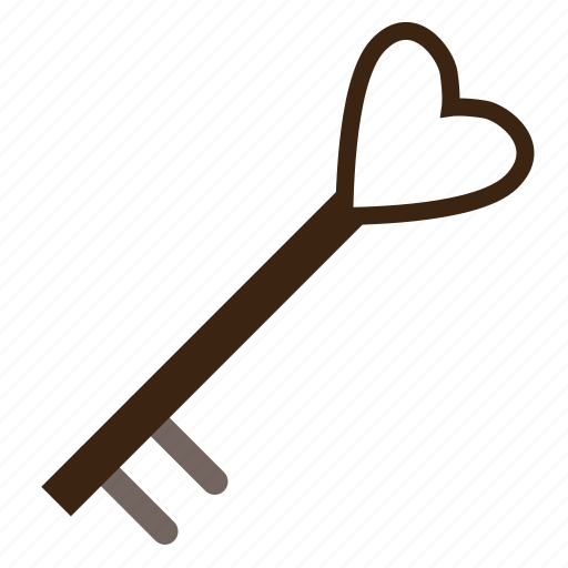 heart, key, love, romantic, valentine, valentine's day icon