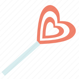 candy, lollipop, sweet, valentine's day icon
