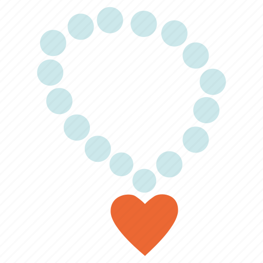 accessory, jewel, jewelry, necklace, valentine's day icon
