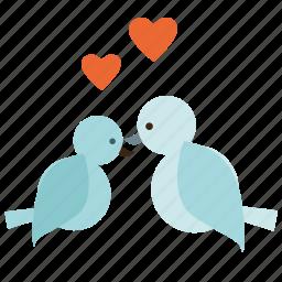birds, love, valentine, valentine's, valentine's day, valentines icon